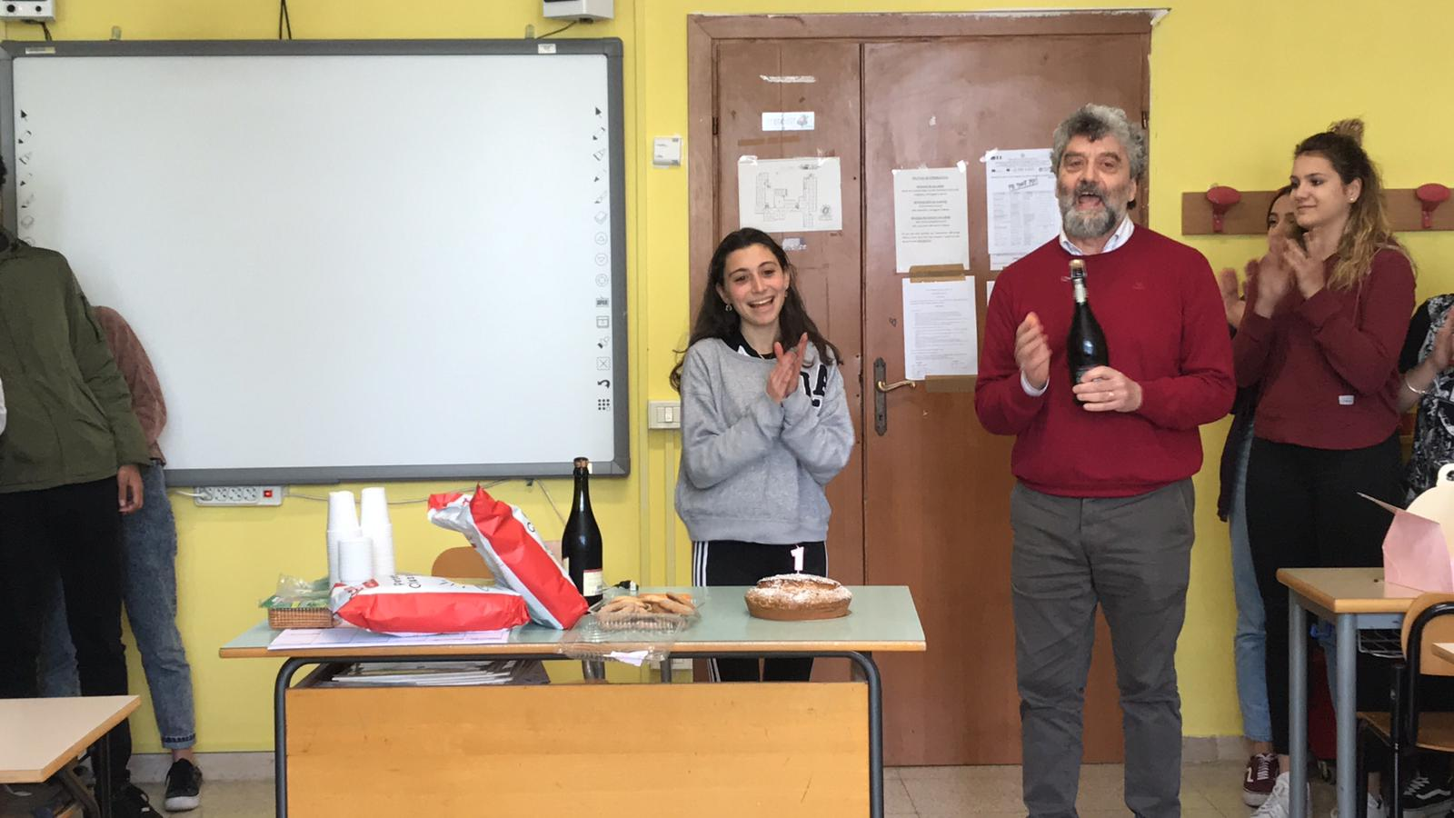 I festeggiamenti in classe