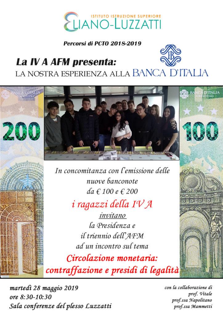 Locandina incontro 4A AFM sulla Circolazione monetaria