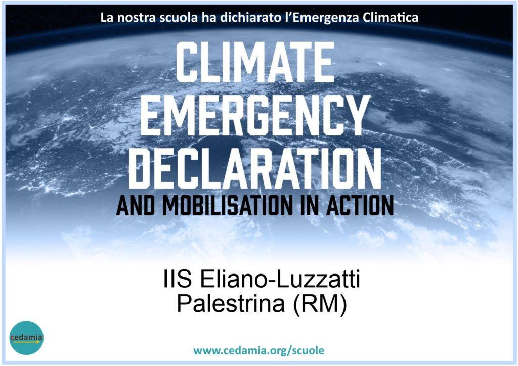 Immagine sulla Dichiarazione da parte del nostro Istituto dell'Emergenza climatica
