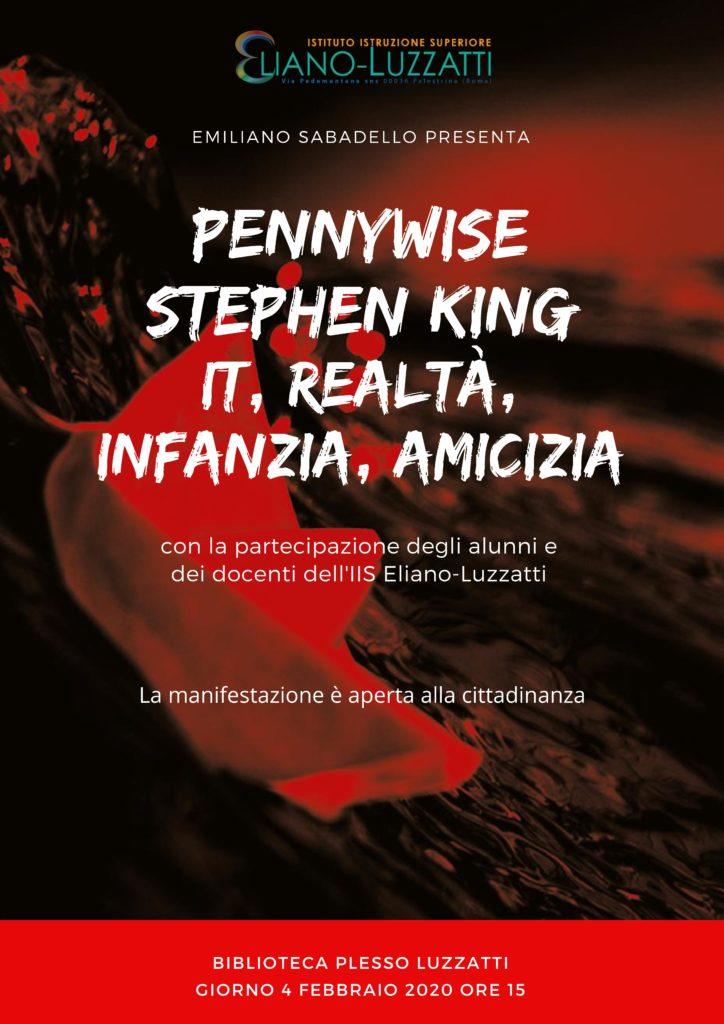 Locandina del libro su IT, pennywise, scritto dal prof. Sabadello
