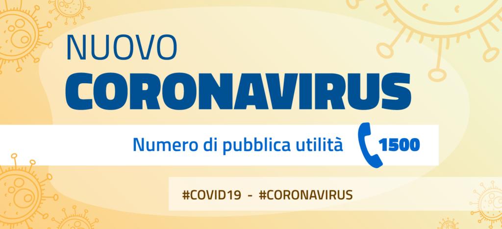 1500 - Numero di pubblica utilità per il CoronaVirus
